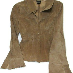 Wet Seal Frontier Style Leather Jacket M